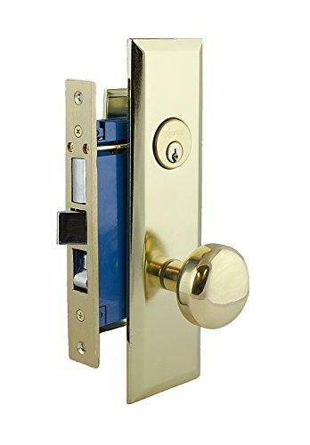 Kenaurd Entry Mortise Lockset - Heavy Duty - NYC Apartment Lock - Schlage Keyway - Polished Brass (Gold)