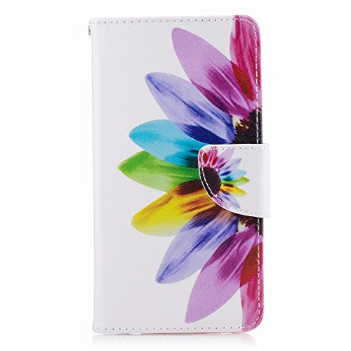 Yiizy Huawei Honor 6X (Huawei Mate 9 Lite, Huawei GR5 2017) Custodia Cover, Petalo Design Sottile Flip Portafoglio PU Pelle Cuoio Copertura Shell Case Slot Schede Cavalletto Stile Libro Bumper Protett