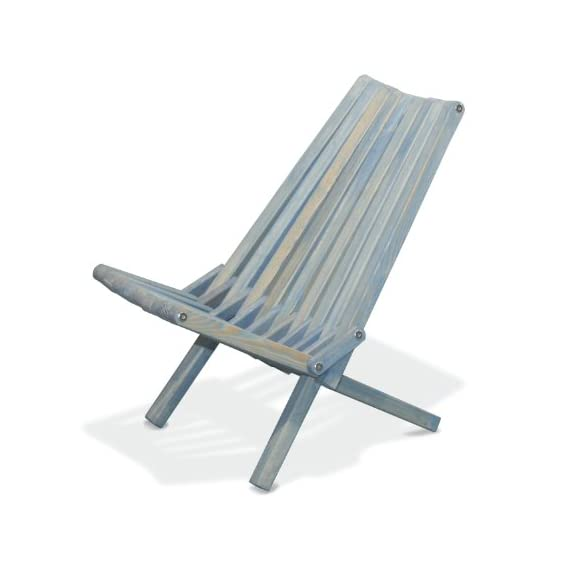 GloDea X36 Natural Lounge Chair, Sky Blue - Folds for easy portability and space saving Handmade with a modern design and your comfort in mind Crafted from eco friendly wood and packed in recyclable boxes - patio-furniture, patio-chairs, patio - 41Vz hblJIL. SS570  -