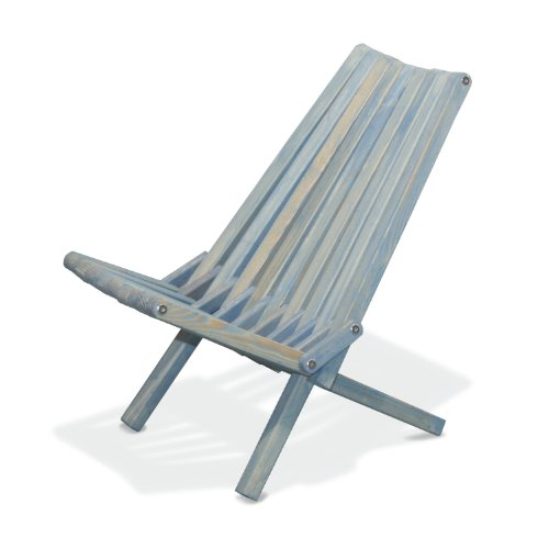 GloDea X36 Natural Lounge Chair, Sky Blue (Belize Outdoor Furniture)