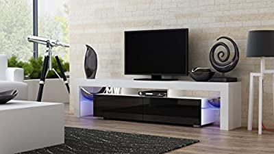 TV Stand MILANO 200 / Modern LED TV Cabinet / Living Room Furniture / Tv Cabinet fit for up to 90-inch TV screens / High Capacity Tv Console for Modern Living Room