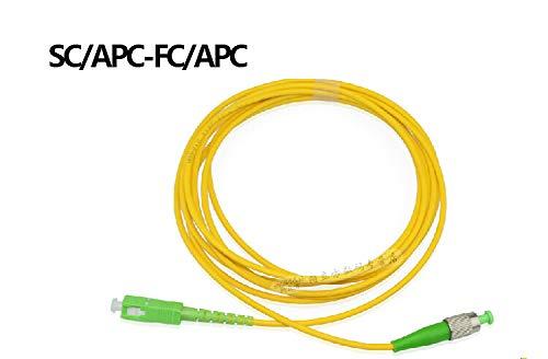 Connectors SC/APC-FC/APC SIMPLEX 9/125 Fiber Patch Cord Jumper Cable Patch Cord sc fc APC, Singlemode 3M/5M/10M/15M/20M/30M/50M/80M/100M - (Cable Length: 30M)