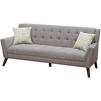 Attractive Furniture World Mid Century Sofa, Gray
