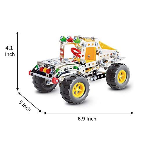 IRON COMMANDER Model Car Kits to Build Metal Erector Sets Boys Model Cars Adults Model Car Off-Road Erector Set (816B-46)