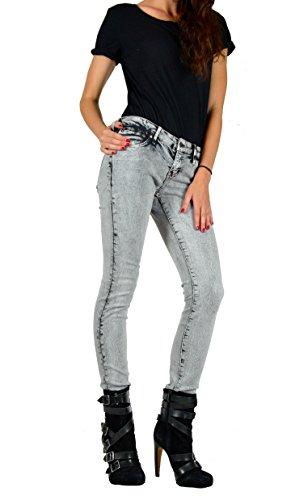 Kill City Women's Vintage Cracked Wash Stretchy Skinny Rocker Slim Twill Jeans (25) (Wash Twill Jean Vintage)