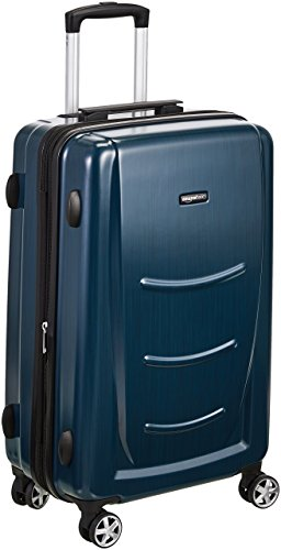 AmazonBasics Hard Shell Carry On Spinner Suitcase Luggage - 24 Inch, Navy Blue (Luggage 60 Linear Inches)