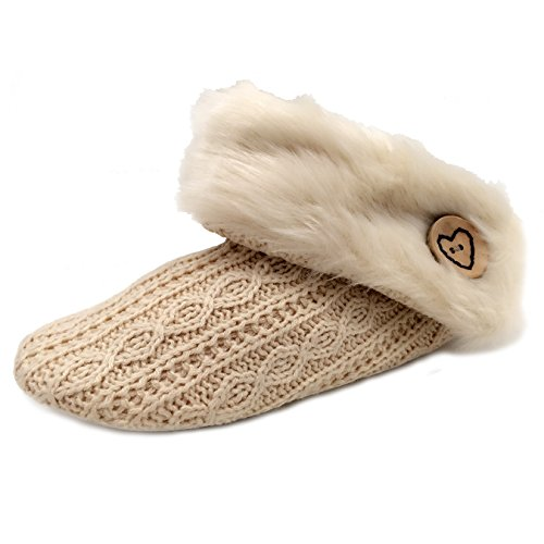 YOUNG LIGHT Women Warm Winter Soft Plush Slippers Indoor Home Shoes Lounge House Relaxed Shoes White g54gu