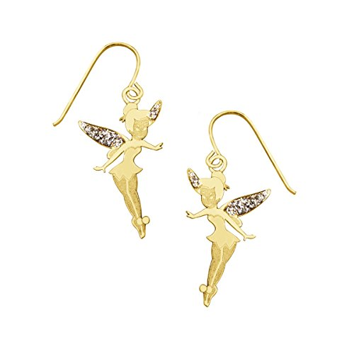 Disney's Tinker Bell Drop Earrings in 10K (Disney Tinkerbell Earrings)