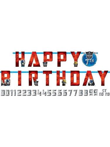 (Transformers 'Dark of the Moon' Jumbo Letter Birthday Banner Kit)