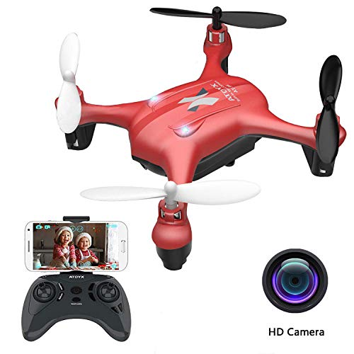 2019 Update ATOYX Mini Drones with Camera for Kids/Beginners, FPV Drone WiFi Real-time Video Feed, 2.4GHz 4CH 6-Axis Gyro Quadcopter, RC Helicopter Easy Fly is a Fun Gift for him(AT-96)