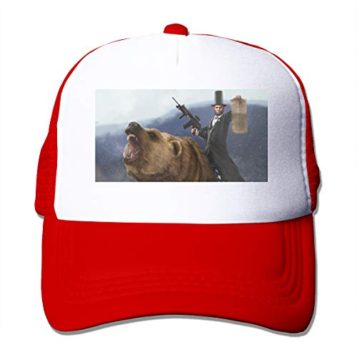 HiPiClothK Unisex Abraham Lincoln Trucker Hats Red