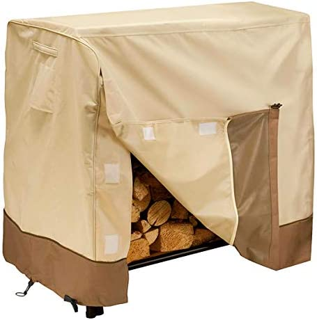 Give Me Heavy Duty Log Rack Cover 4FT, Waterproof Firewood Cover Outdoor Fits L48 x W24 x H42 Inches