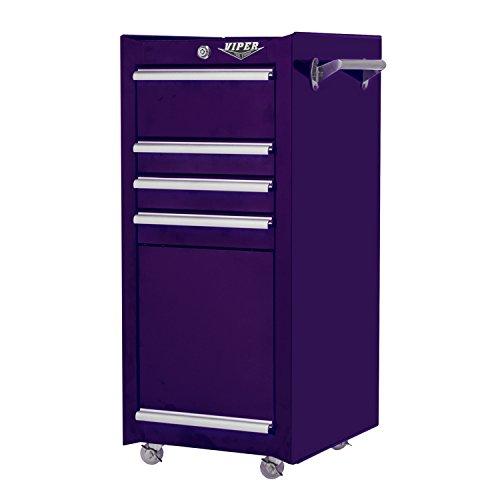 Amazon.com: Viper Tool Storage V1804PUR 16 Inch 4 Drawer 18G Steel Rolling  Tool/Salon Cart, With Bulk Storage, Purple: Home Improvement