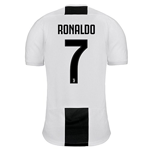 da64421e436fc adidas 2018-2019 Juventus Home Ronaldo 7 Jersey - Black White-Medium