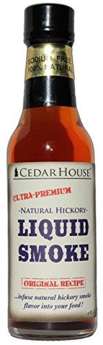- CedarHouse Ultra-Premium Liquid Smoke: All Natural Hickory Liquid Smoke - 4 FL OZ