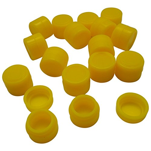 Gentcy Silicone 2ml 100pcs Silicon ContainersJar Seals Oil Wax Concentrate 13Color by Gentcy Silicone (Image #3)