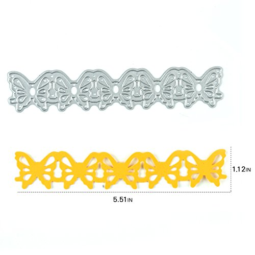 [Enipate Butterfly Cutting Dies Carbon Steel Stencil Metal DIY Template] (Grape Vine Halloween Costume)