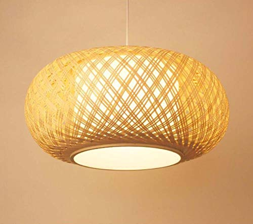 - GAOLIQIN Creative Bamboo Art Chandeliers Southeast Asia Style Handmade Pendant Lamp Restaurant, Teahouse, Living Room Cafe Bar Decoration Pendant Light (Size : 4020cm)