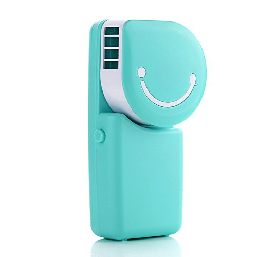 fibgihc 1X Portable USB Air Conditioner Mini Mute Bladeless Handheld Small Personal Cooling Fan