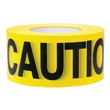 Caution Barricade Safety Tape - Premium Yellow Caution Tape • 3 inch x 1000 feet • Bright Yellow w/ Bold Black Text • 3