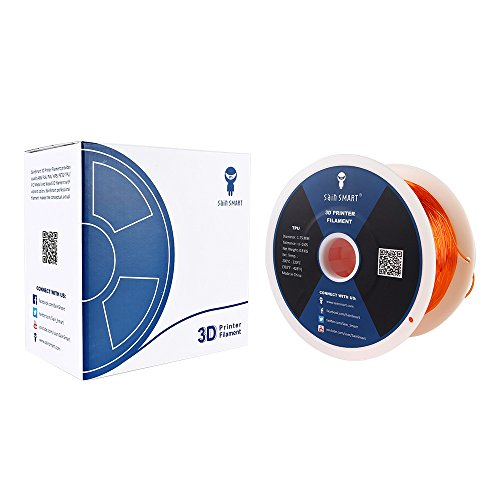 SainSmart Orange Flexible TPU 3D Printing Filament, 1.75 mm, 0.8 kg, Dimensional Accuracy +/- 0.05 mm