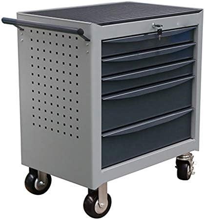 工具カート 引き出しツールボックスグリッドツールカート多目的ツールカートツールキャビネットワークショップのために工場ユーティリティービークル キッチン 車庫 (Color : Gray, Size : 68x46x70cm)