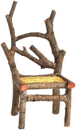 Amazon Com Top Collection Enchanted Story Garden Fairy Furniture Tall Wooden Chair Outdoor Decor Garden Outdoor