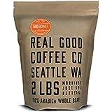 Real Good Coffee Co 2LB, Whole Bean Coffee, Breakfast Blend Light Roast, 2 Pound Bag