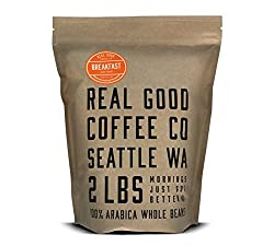 Image of the product Real Good Coffee Co 2LB, Whole Bean Coffee, Breakf that is listed on the catalogue brand of Real Good Coffee Company.