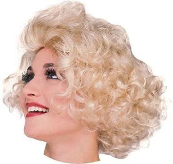Estilo de la peluca rubia actriz de Hollywood peluca rubia Marilyn Monroe para las mujeres (