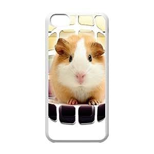 iPhone 5C Case,Cute Little Rat Macro Hard Shell Back Case for White iPhone 5C Okaycosama346773