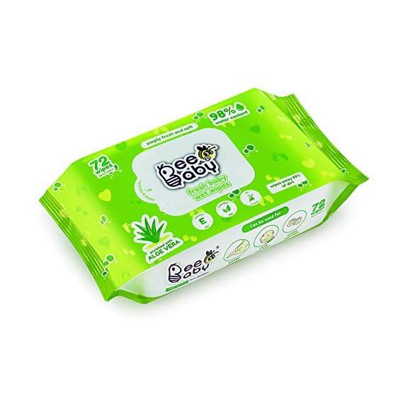 Beebaby Fresh Aloe Vera Baby Wet Wipes - 1 Pack of 72 Pieces