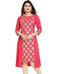 Voguedrift Pink Embellished Indian Pakistani Kurtis Ethnic Kurti Women Dress