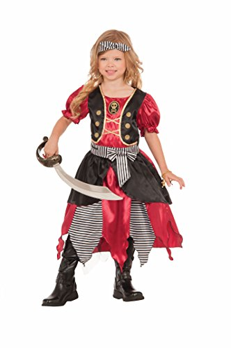 Forum Novelties Girls Buccaneer Princess Costume, Multicolor, Small -