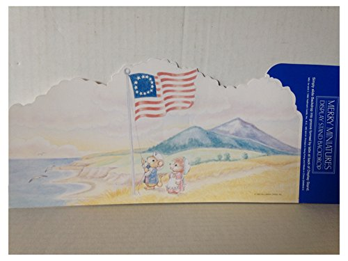 Hallmark Merry Miniatures Patriotic Scene Backdrop Display -