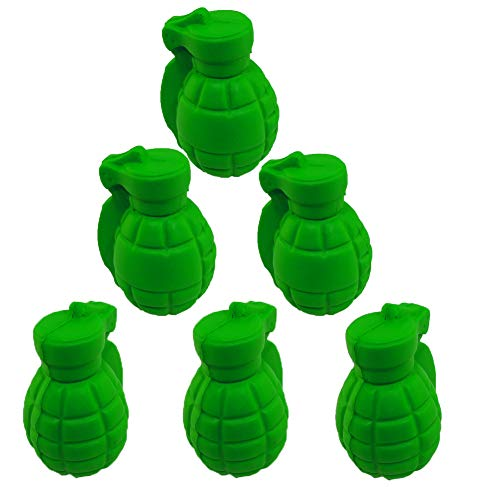 Stress Relief Squeezable Foam Green Grenade Package