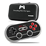 8Bitdo N30 Pro2 Wireless Bluetooth Gamepad Controller N Edition - Updated 2019 Version - for Nintendo Switch MacOS Android Windows Steam - Includes Carrying Case