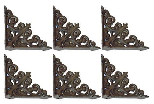 6 CAST Iron Small Fancy Shelf Brackets/Supports