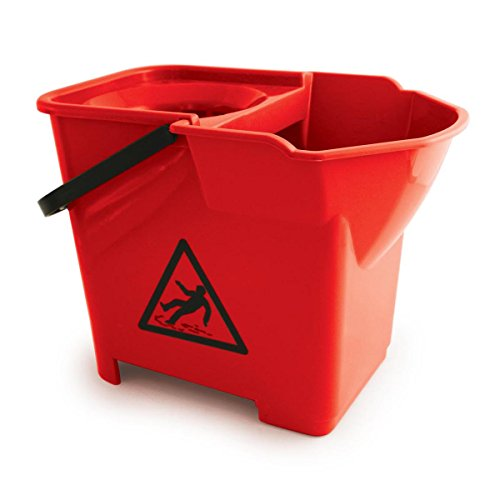 Colour Mop Coded (Bentley Colour Coded Mop Bucket Heavy Duty 16 Litre Capacity Red Ref SPCMB16R)