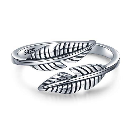 leaf ring sterling silver - 9