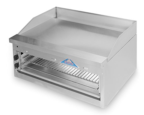 Comstock Castle FHP36-36B Gas Griddle On Overfire Broiler / Cheesemelter
