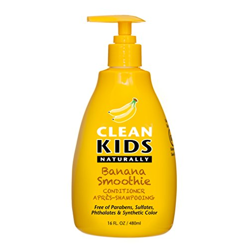 Clean Kids Naturally Banana Smoothie Detangler 16oz - Non-Toxic - Vegan - Cruelty-Free - Coconut-Free - Paraben-Free - Sulfate-Free