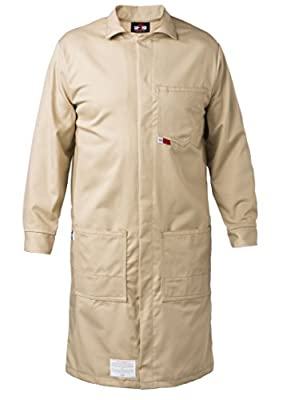FR LAB COAT - 9oz. 100% Cotton INDURA Flame Resistant Fabric - Lab or Classroom Ready - HRC 2 - ATPV 11.5 cal/m2 - MADE IN THE U.S.A.