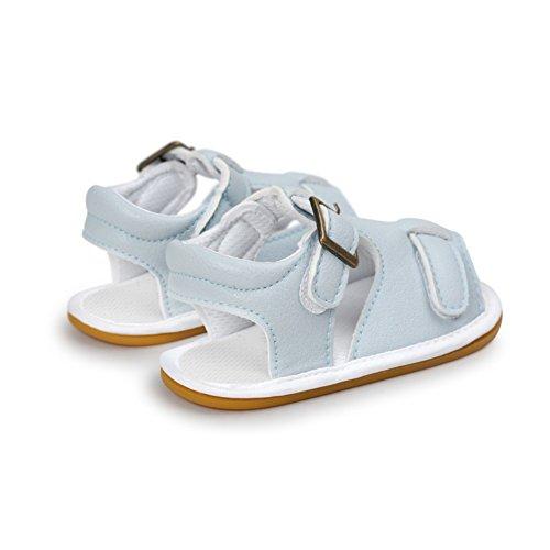 Sandalias De Bebe,BOBORA Prewalker Zapatos Primeros Pasos Para Bebe Baby Sandalias De Goma Antideslizante Inferior Del Bebe A4
