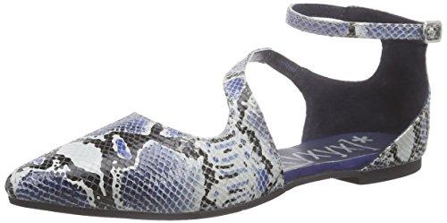 xyxyx Sandale - Sandalias de tobillo Mujer Azul - Blau (navy/black)