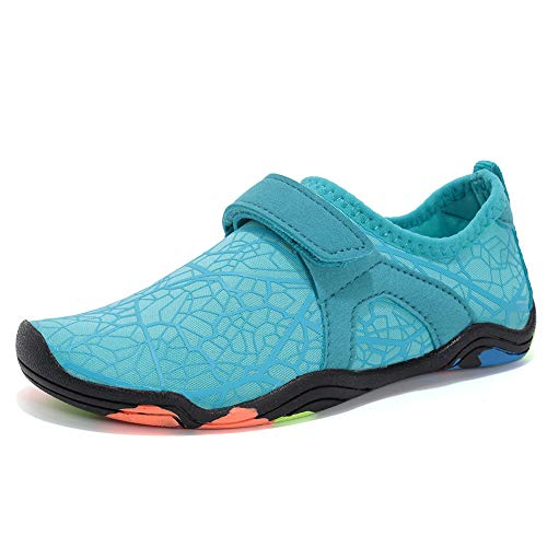 CIOR Boys & Girls Water Shoes Quick Drying Sports Aqua Athletic Sneakers Lightweight Sport Shoes(Toddler/Little Kid/Big Kid) DKSXM-W.Blue-31
