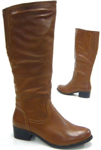 a9606ccbe500 Elegante Damen Stiefel Reiter Boots kniehohe Stiefel camel 36 ...