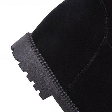 Heart&M Mujer Botas Confort Innovador Botas de Moda Primavera Invierno Semicuero Casual Lunares Tacón Cuña Negro 25 - 45 cms