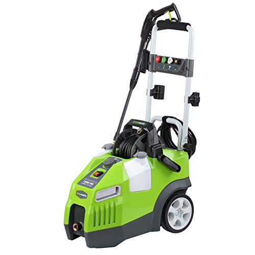 Greenworks 1950 PSI 13 Amp 1.2 GPM Pressure Washer with Hose Reel GPW1950 (Power Mower Reel)