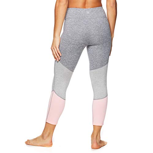 Gaiam Women's Capri Yoga Pants - Performance Spandex Compression Legging - Coral Glow Pink, Large]()